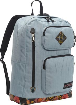 JanSport Houston Laptop Backpack- Sale Colors Multi Garden Delight - JanSport Business & Laptop Backpacks