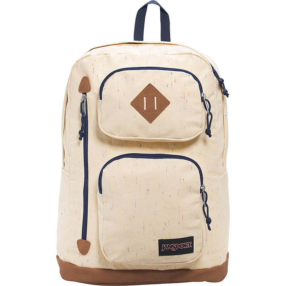 JanSport Houston Laptop Backpack- Sale Colors Natural Speckled Canvas - JanSport Business & Laptop Backpacks