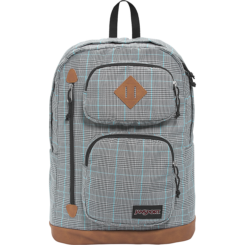 JanSport Houston Laptop Backpack- Sale Colors Black/White Suited Plaid - JanSport Business & Laptop Backpacks