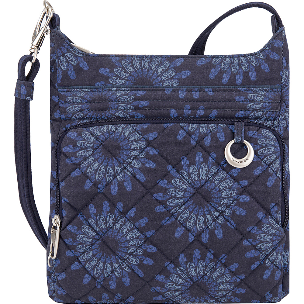 Travelon Anti-Theft Boho North/South Crossbody Geo Sunflower - Travelon Fabric Handbags - Handbags, Fabric Handbags