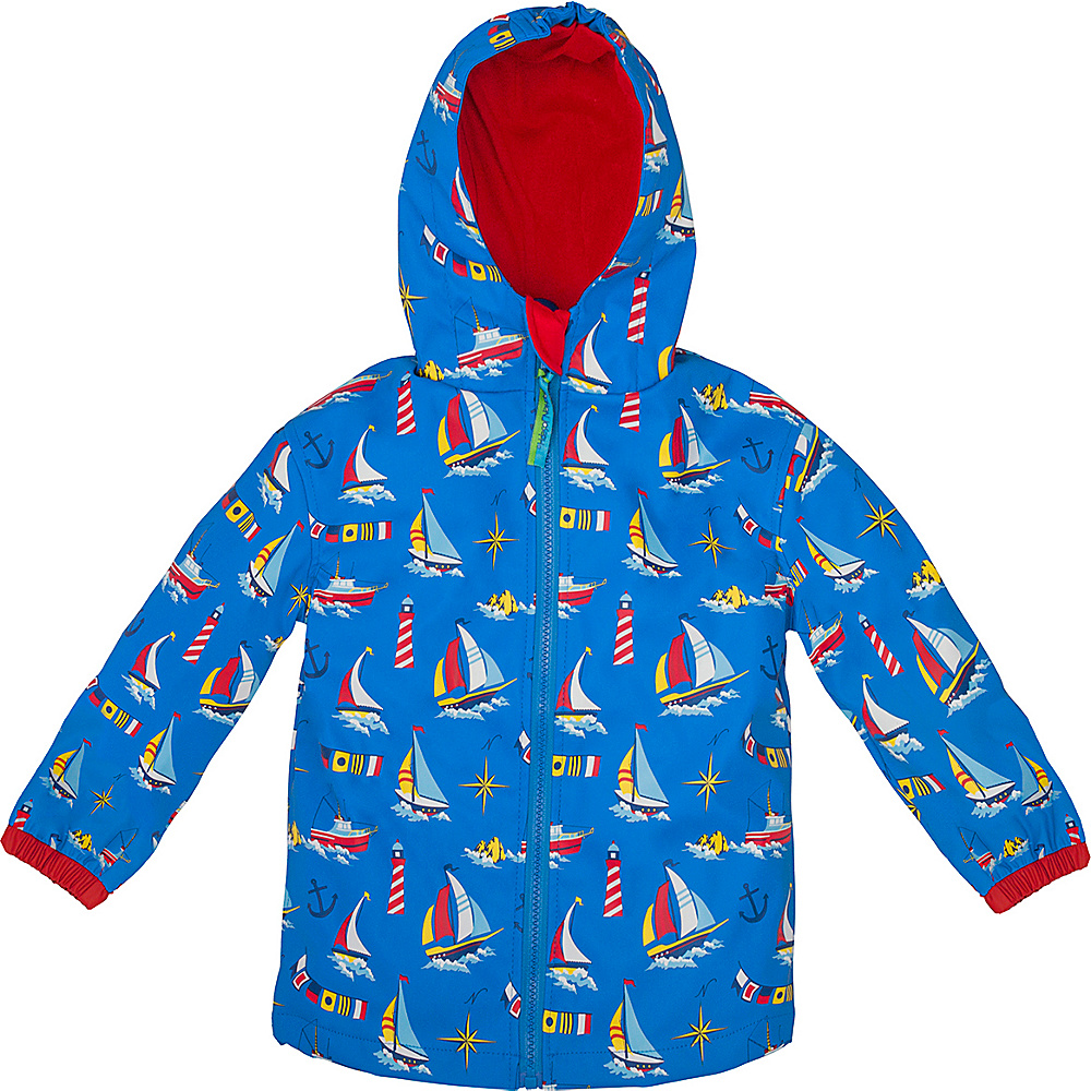 Stephen Joseph Kids Rain Coat 3T - Nautical - Stephen Joseph Womens Apparel - Apparel & Footwear, Women's Apparel