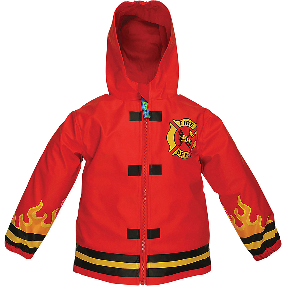 Stephen Joseph Kids Rain Coat 6X - Fire Truck - Stephen Joseph Womens Apparel - Apparel & Footwear, Women's Apparel