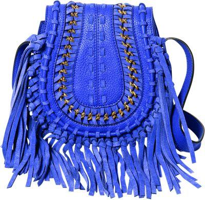 Aimee Kestenberg Handbags Genny Crossbody Royal Blue - Aimee Kestenberg Handbags Leather Handbags