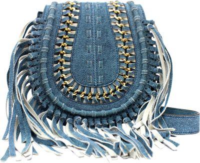 Aimee Kestenberg Handbags Genny Crossbody Denim Leather - Aimee Kestenberg Handbags Leather Handbags