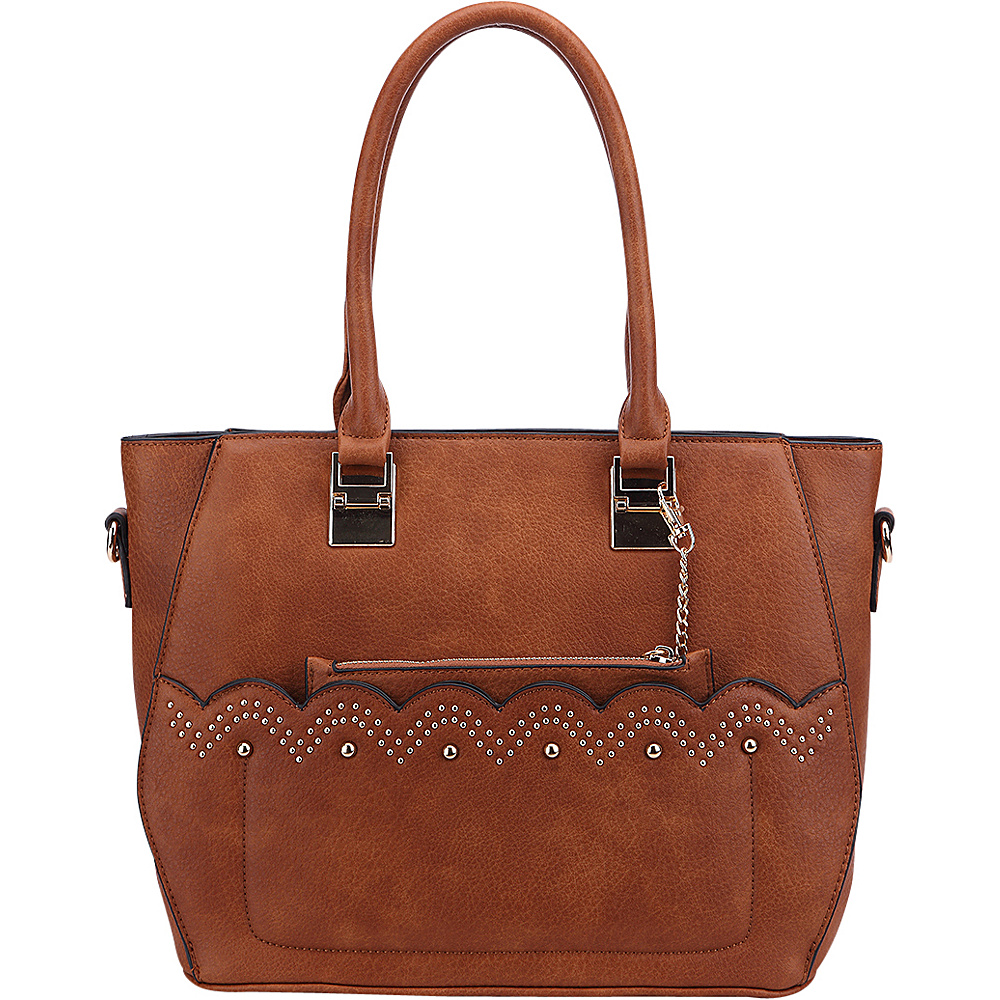MKF Collection by Mia K. Farrow Princess Handbag Brown - MKF Collection by Mia K. Farrow Manmade Handbags - Handbags, Manmade Handbags
