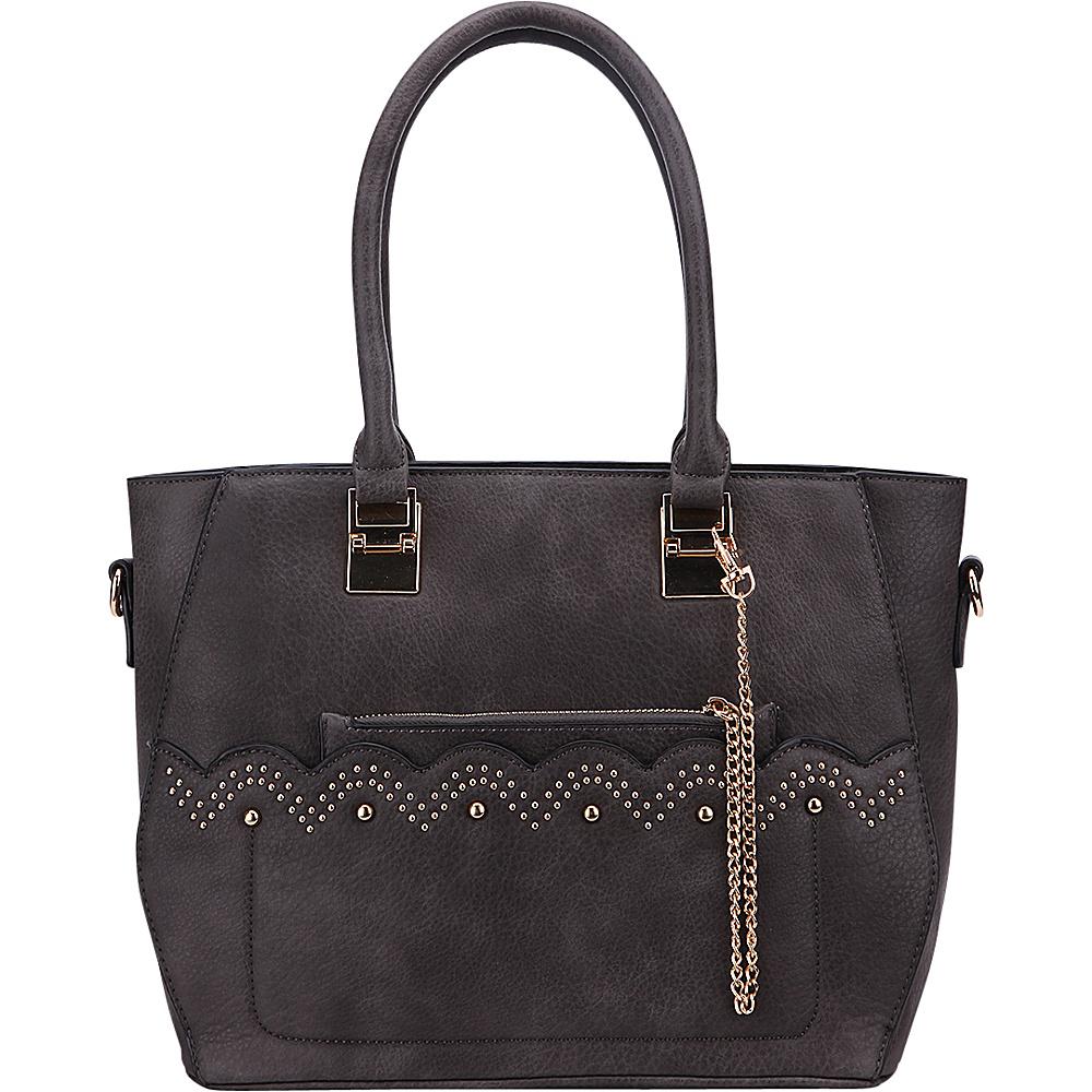 MKF Collection by Mia K. Farrow Princess Handbag Dark Grey - MKF Collection by Mia K. Farrow Manmade Handbags - Handbags, Manmade Handbags