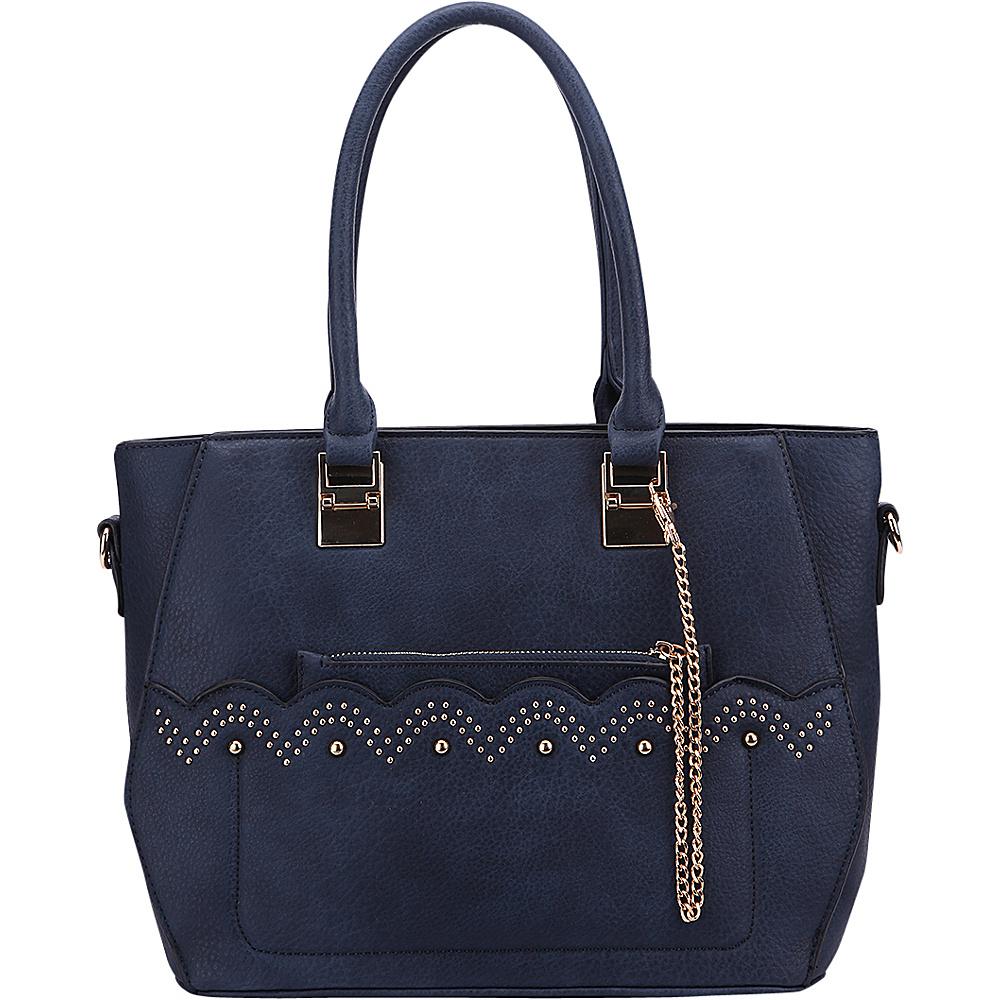 MKF Collection by Mia K. Farrow Princess Handbag Navy - MKF Collection by Mia K. Farrow Manmade Handbags - Handbags, Manmade Handbags