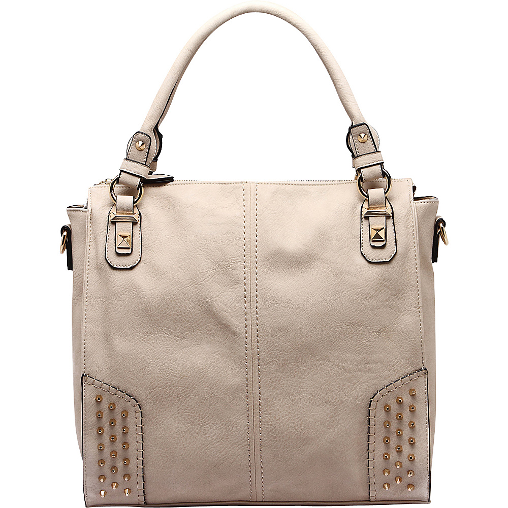 MKF Collection Alexia Shoulder Bag Beige - MKF Collection Manmade Handbags - Handbags, Manmade Handbags