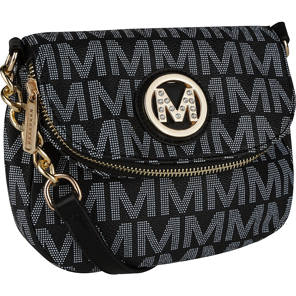 MKF Collection York M Signature Crossbody Black - MKF Collection Manmade Handbags - Handbags, Manmade Handbags