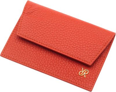 Rapport London Continental Leather Credit Card Holder Orange - Rapport London Designer Handbags