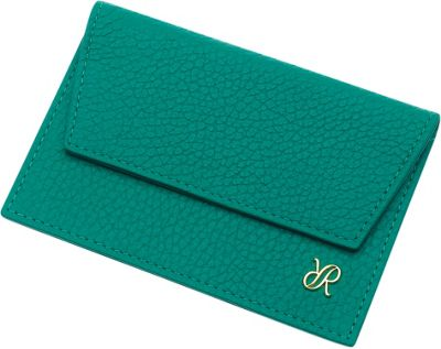Rapport London Continental Leather Credit Card Holder Green - Rapport London Designer Handbags