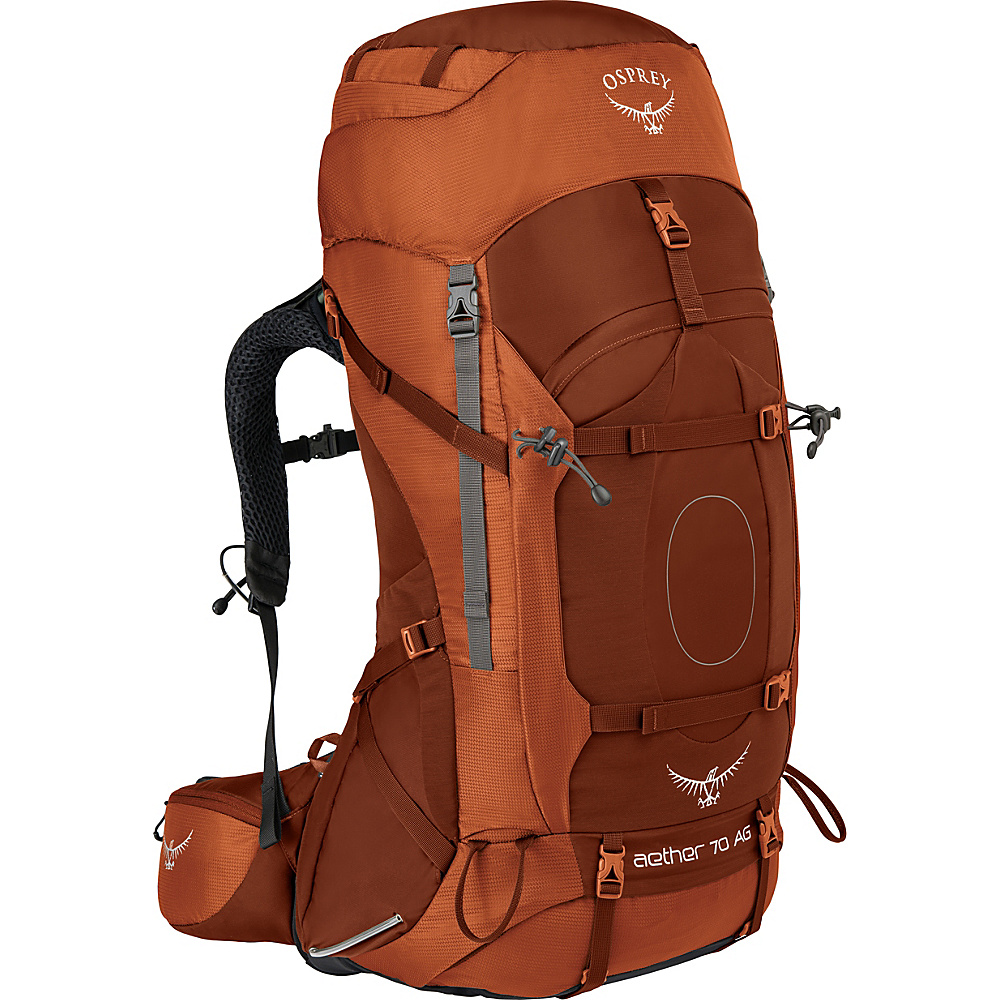 Osprey Aether AG 70 Hiking Pack Outback Orange – XL - Osprey Backpacking Packs - Outdoor, Backpacking Packs