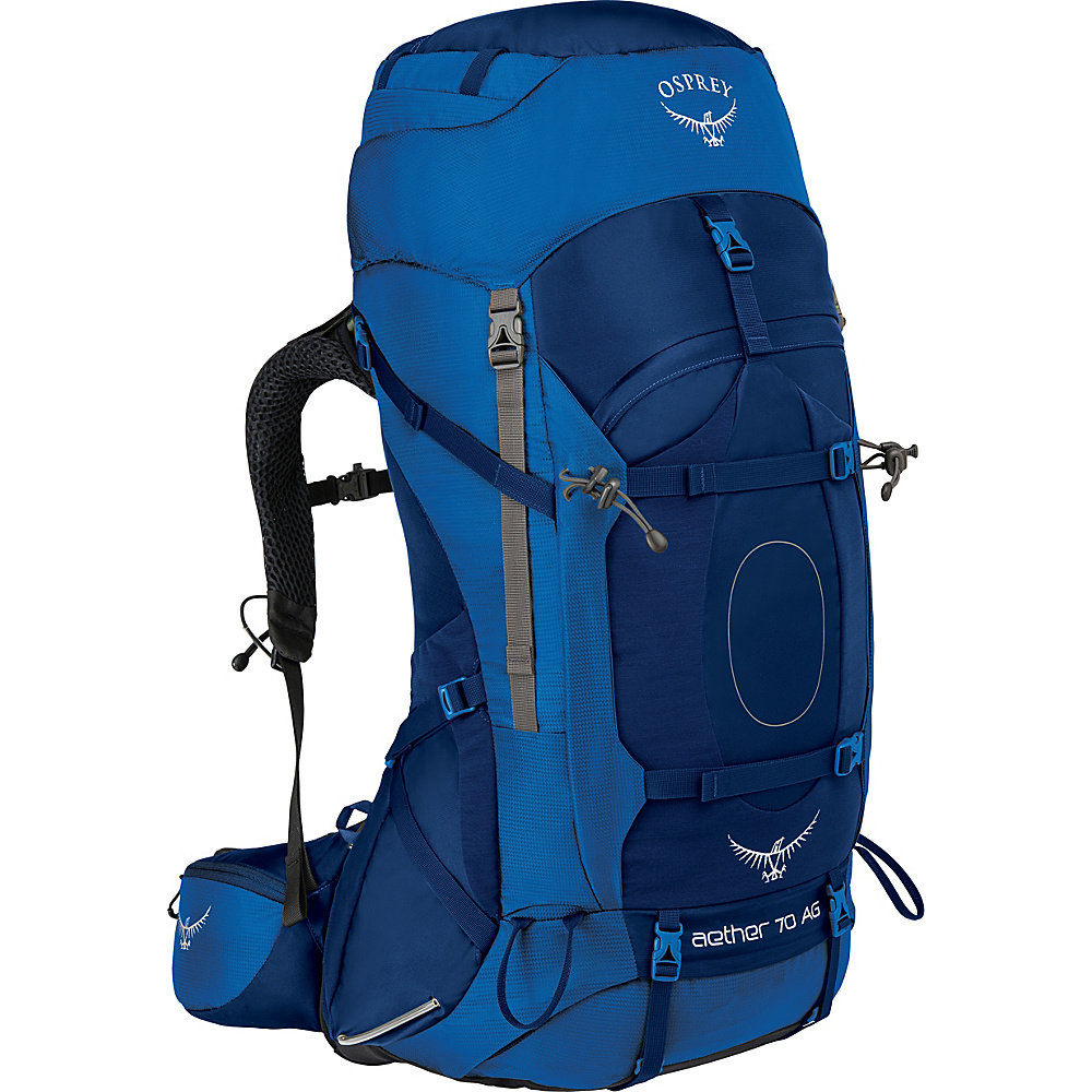 Osprey Aether AG 70 Hiking Pack Neptune Blue – LG - Osprey Backpacking Packs - Outdoor, Backpacking Packs