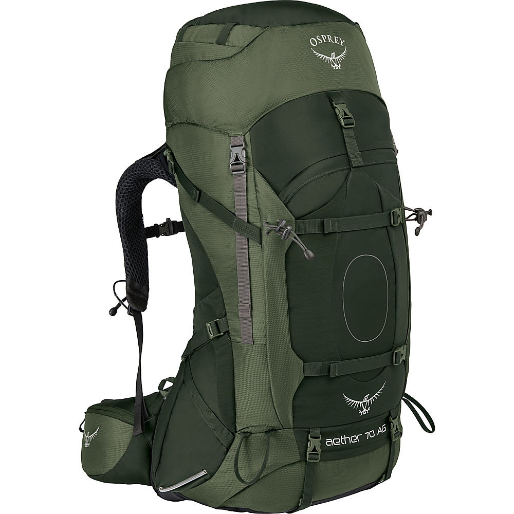 Osprey Aether AG 70 Hiking Pack Adriondack Green – SM - Osprey Backpacking Packs - Outdoor, Backpacking Packs