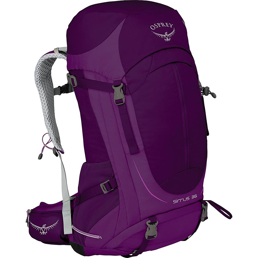 Osprey Womens Sirrus 36 Hiking Pack Ruska Purple – WS/M - Osprey Backpacking Packs - Outdoor, Backpacking Packs