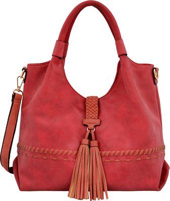 Mellow World Nicky Hobo Red - Mellow World Manmade Handbags