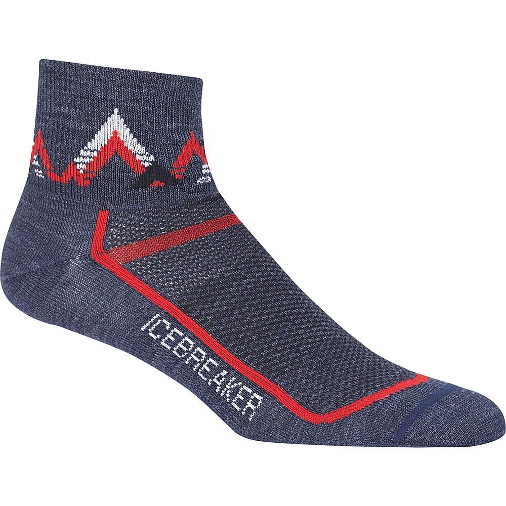 Icebreaker Mens Multisport Ultra Light Mini Sock S - Fathom Heather/Rocket - Icebreaker Legwear/Socks - Fashion Accessories, Legwear/Socks