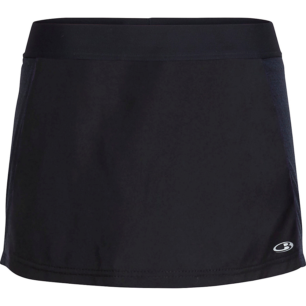 Icebreaker Womens Comet Skort XL - Black/Black - Icebreaker Womens Apparel - Apparel & Footwear, Women's Apparel