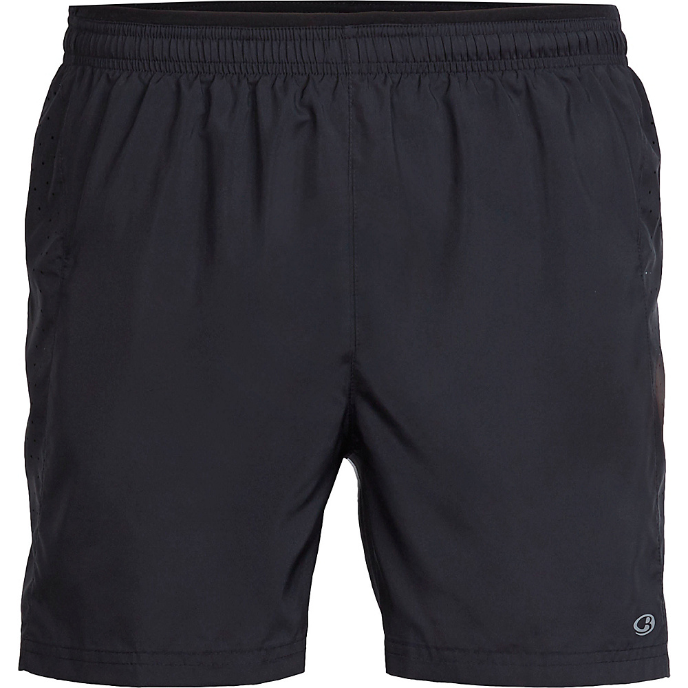 Icebreaker Mens Strike Lite Short XL - Black/Black - Icebreaker Mens Apparel - Apparel & Footwear, Men's Apparel