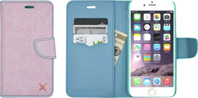 Candywirez Case Study Wallet for iPhone 6S Pastel Blue - Candywirez Electronic Cases