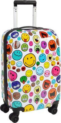 Smiley Celebration 22 inch Spinner White - Smiley Kids' Luggage