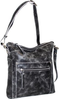 Nino Bossi Ebony Crossbody Black - Nino Bossi Leather Handbags