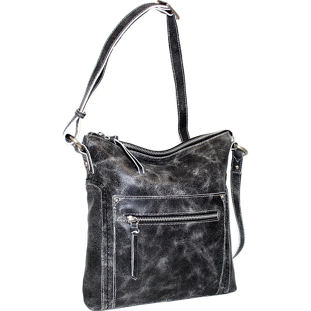 Nino Bossi Ebony Crossbody Black - Nino Bossi Leather Handbags - Handbags, Leather Handbags