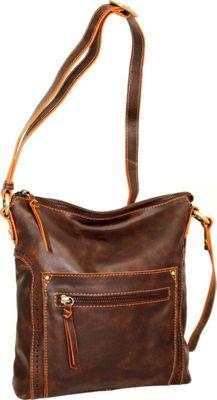 Nino Bossi Ebony Crossbody Chocolate - Nino Bossi Leather Handbags