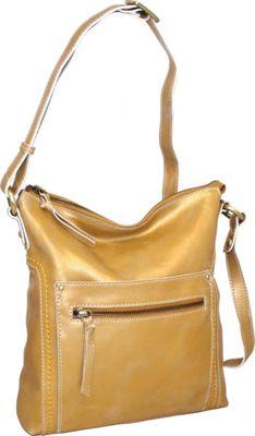 Nino Bossi Ebony Crossbody Gold - Nino Bossi Leather Handbags