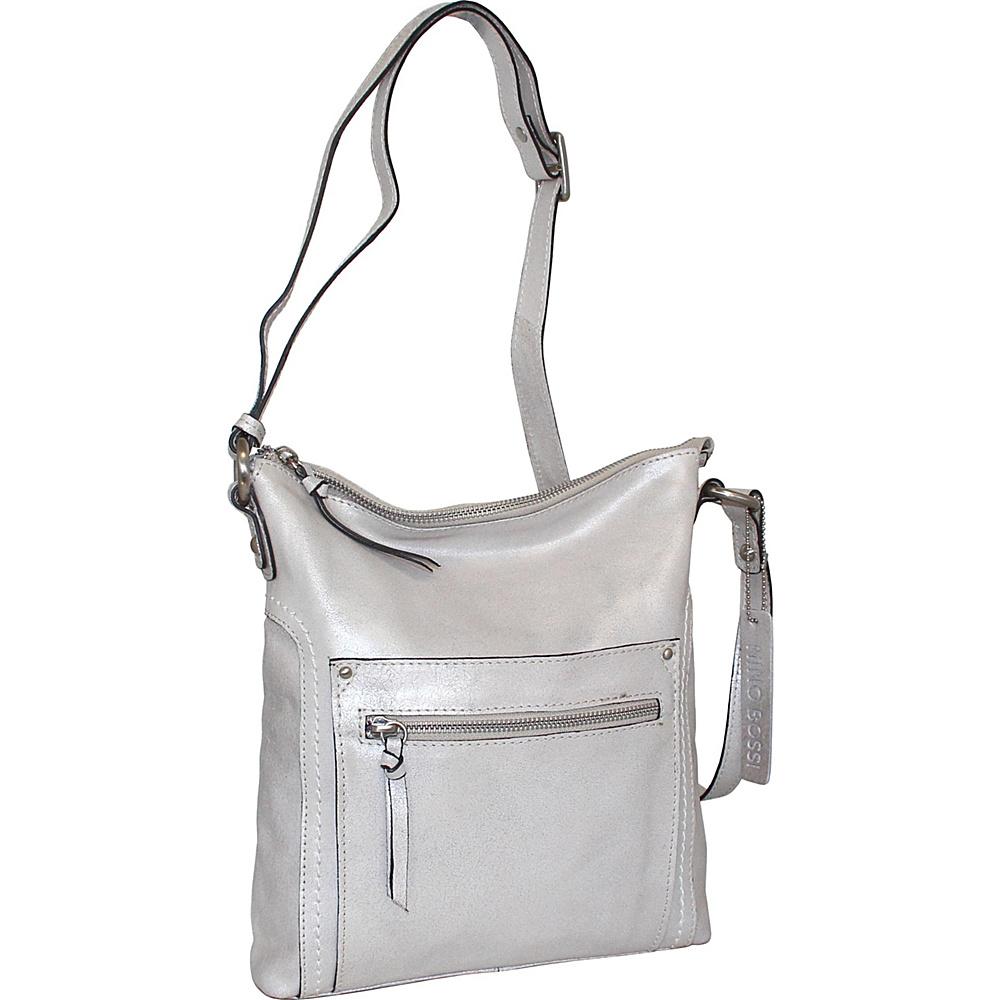 Nino Bossi Ebony Crossbody Silver - Nino Bossi Leather Handbags - Handbags, Leather Handbags