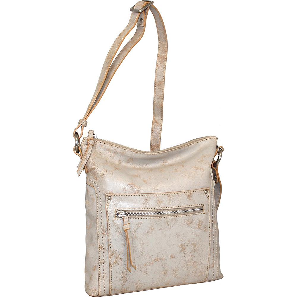 Nino Bossi Ebony Crossbody White - Nino Bossi Leather Handbags - Handbags, Leather Handbags