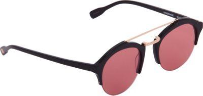 Elie Tahari Sunglasses Semi Rimless Vintage Inspired Round Sunglasses Black - Elie Tahari Sunglasses Eyewear