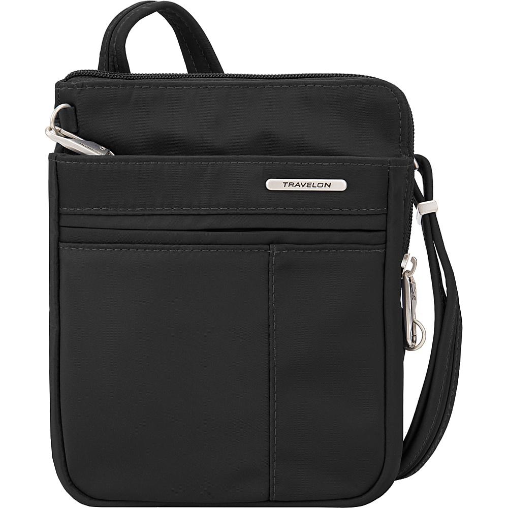 Travelon Anti-Theft Welted Crossbody Phone Pouch - Exclusive Black - Travelon Fabric Handbags - Handbags, Fabric Handbags