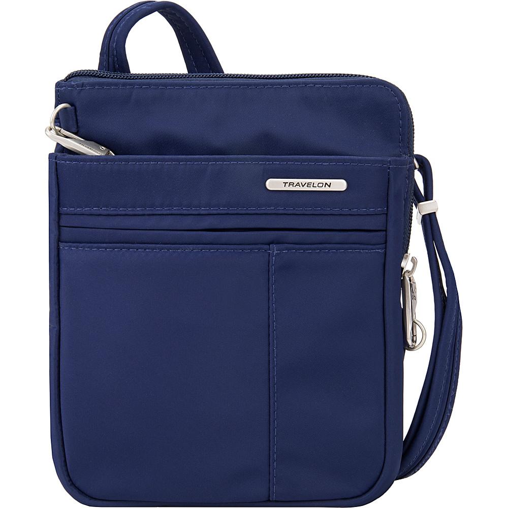 Travelon Anti-Theft Welted Crossbody Phone Pouch - Exclusive Navy - Travelon Fabric Handbags - Handbags, Fabric Handbags