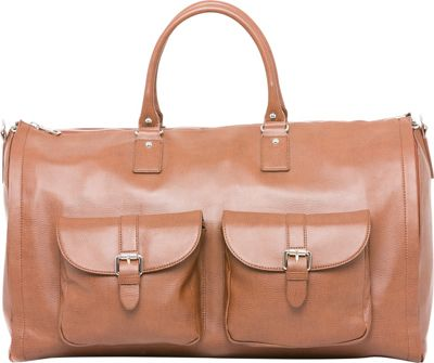 Hook & Albert Hook & Albert Leather Garment Weekender Bag Brown - Hook & Albert Travel Duffels