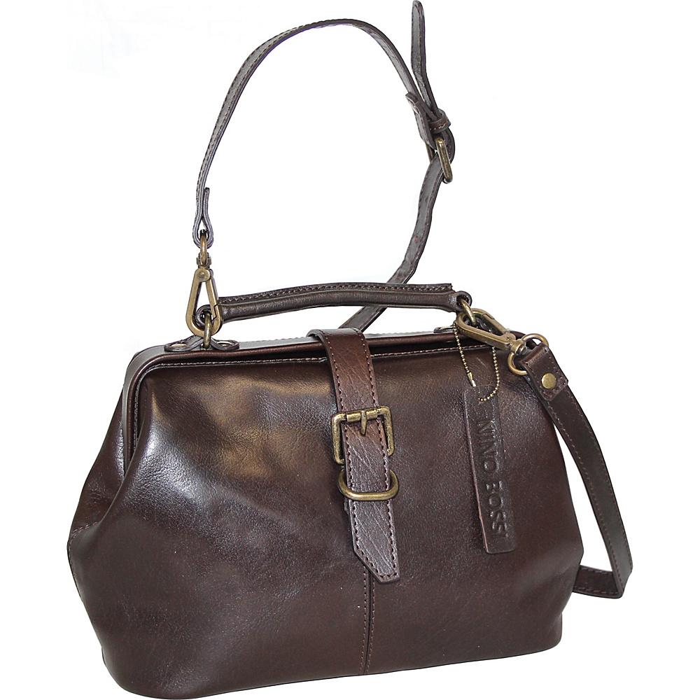 Nino Bossi Stella Leather Hobo Chocolate - Nino Bossi Leather Handbags - Handbags, Leather Handbags