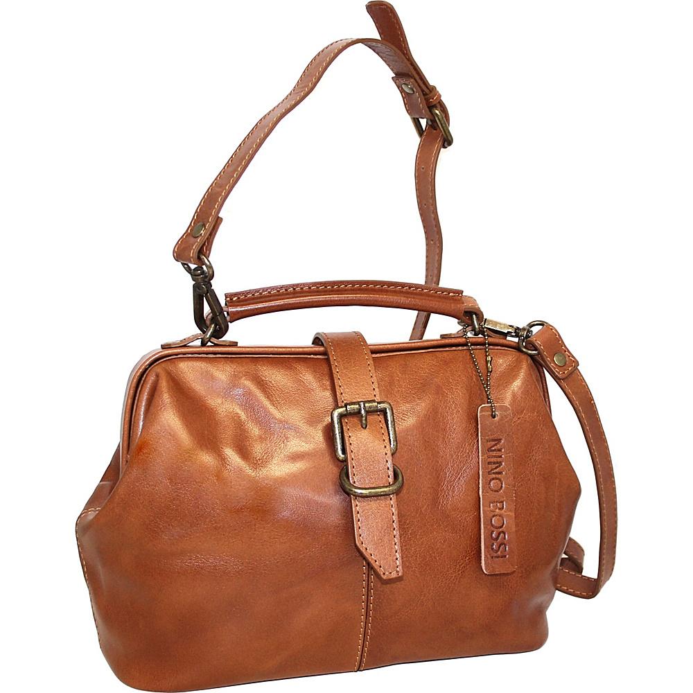 Nino Bossi Stella Leather Hobo Cognac - Nino Bossi Leather Handbags - Handbags, Leather Handbags