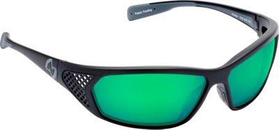 Native Eyewear Andes Sunglasses Matte Black with Polarized Green Reflex - Native Eyewear Eyewear