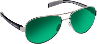 Native Eyewear Patroller Sunglasses Gunmetal/Gloss Black with Polarized Green Reflex - Native Eyewear Eyewear