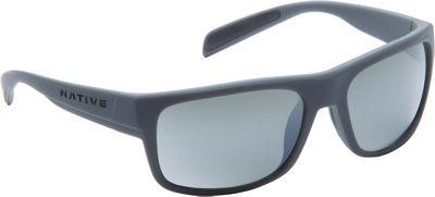 Native Eyewear Ashdown Sunglasses Granite with Polarized Silver Reflex - Native Eyewear Eyewear 10552876