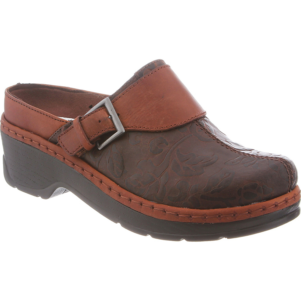 KLOGS Footwear Womens Austin 6.5 - M (Regular/Medium) - Brown Flower Tool - KLOGS Footwear Womens Footwear - Apparel & Footwear, Women's Footwear