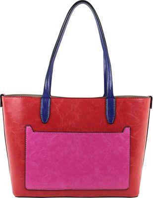 Emilie M Loren Medium Satchel - Bright Poppy - Emilie M Manmade Handbags