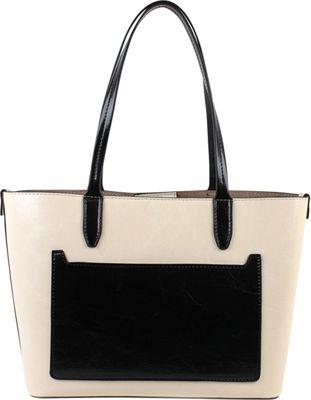 Emilie M Loren Medium Satchel - Bright String/Black - Emilie M Manmade Handbags