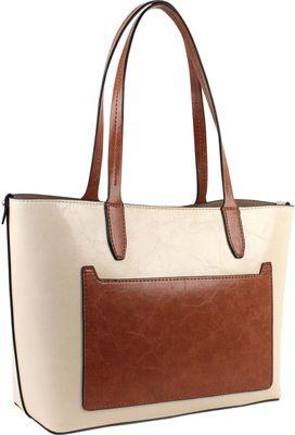 Emilie M Loren Medium Satchel - Bright String/Cognac - Emilie M Manmade Handbags