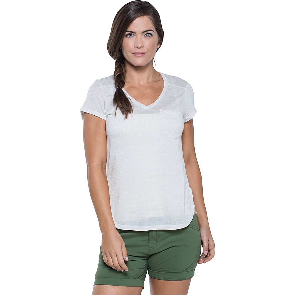 Toad & Co Ember Short Sleeve Tee M - Pelican - Toad & Co Womens Apparel - Apparel & Footwear, Women's Apparel