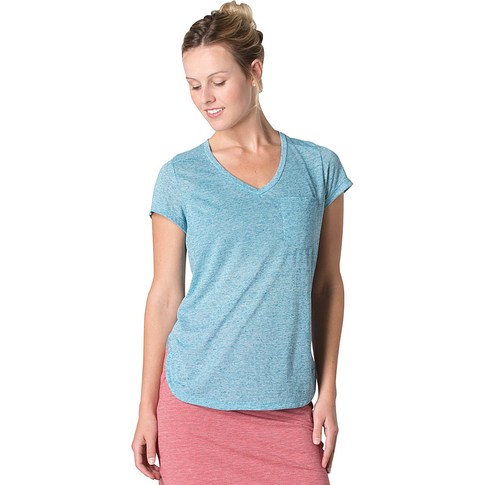 Toad & Co Ember Short Sleeve Tee M - Seaport - Toad & Co Womens Apparel - Apparel & Footwear, Women's Apparel