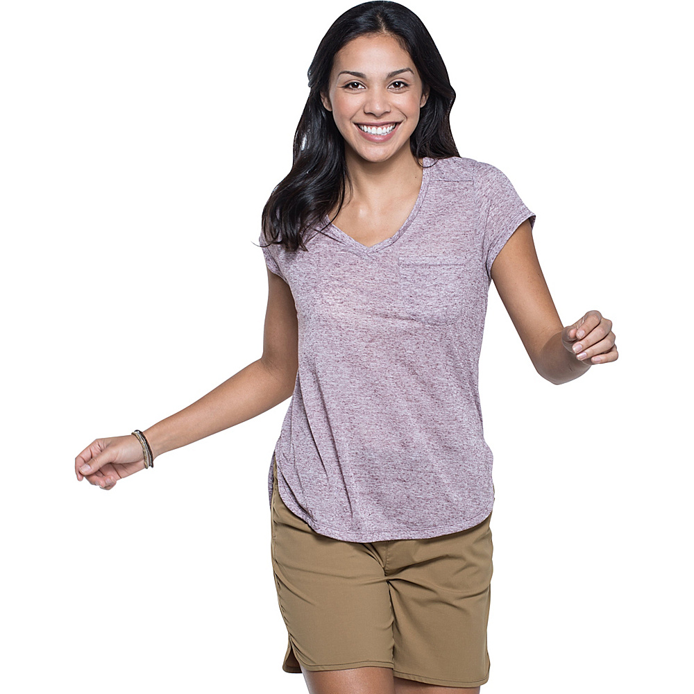 Toad & Co Ember Short Sleeve Tee S - Sangria - Toad & Co Womens Apparel - Apparel & Footwear, Women's Apparel