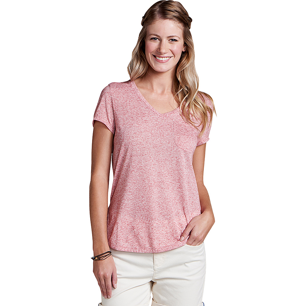 Toad & Co Ember Short Sleeve Tee XL - Rhubarb - Toad & Co Womens Apparel - Apparel & Footwear, Women's Apparel