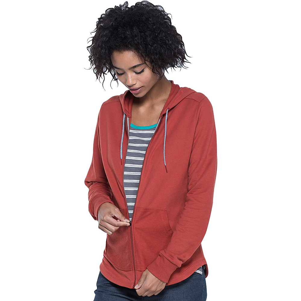 Toad & Co Overchill Hoodie L - Red Clay - Toad & Co Womens Apparel - Apparel & Footwear, Women's Apparel