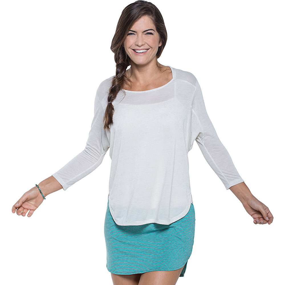 Toad & Co Ember 3/4 Sleeve Tee XS - Pelican - Toad & Co Womens Apparel - Apparel & Footwear, Women's Apparel